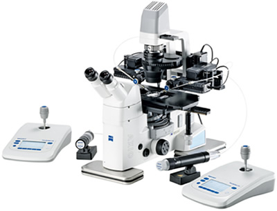 Station de microscopie pour micro-injections semi-automatiques - Image courtesy of Eppendorf France